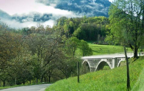 Soft, green hills...